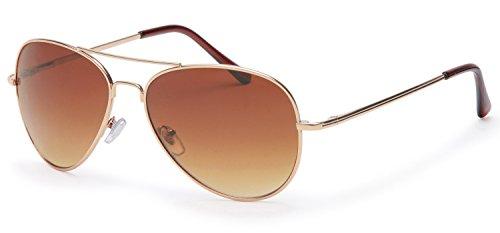 Filtral Sonnenbrille   Pilotenbrille für die Dame aus Metall in gold und braunen Verlaufsscheiben F3011506