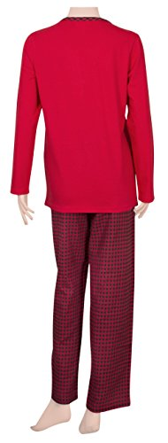 Ninety-One - Ensemble de pyjama - Femme Multicolore Bigarré X-Large Red/Red-Black Checks