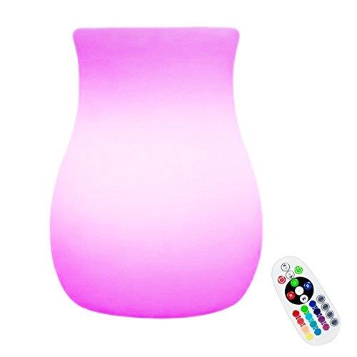 Ambiance LED Boule de Lumière,KINGCOO LED Veilleuse Rechargeable Lampe de Table de Chevet,éclairage de Nuit pour Extérieur Décoration intérieure (10x15cm Vase)