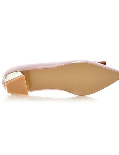 ZQ Damenschuhe - High Heels - L?ssig - Kunstleder - Niedriger Absatz - Abs?tze - Rosa / Silber / Grau silver-us6 / eu36 / uk4 / cn36