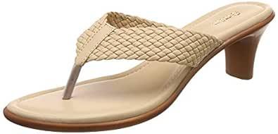 BATA Women's Deva Thong Beige Slippers-5 UK/India (38 EU) (6718970)