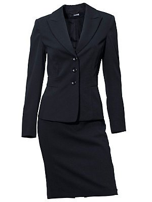 Kostüm Business Büro City Abend Class International marine blau (42)