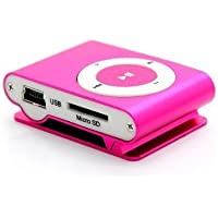 Natthom MP3 player clips Mini music player (rose red)