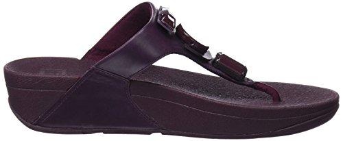 FITFLOP GlamoritzToe-Thong Sandals, Sandali con Plateau Donna Viola (Deep Plum)
