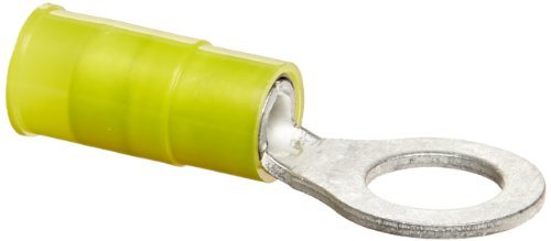 Nylon Insulated Ring Terminal, 12-10 Wire Size, 5/16 Stud Size, 0.591 Width, 1.398 Length by NSI -