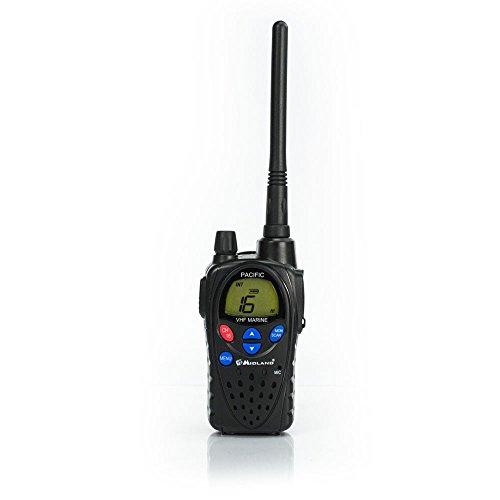 Midland 530-23G109402 Pacific VHF Marine Ricetrasmittente Radio, con 57 Stazioni Radio Marittime Internazionali Memorizzate
