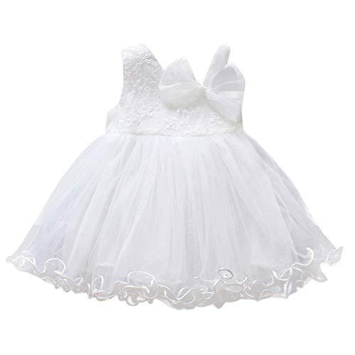 (MRURIC Kleinkind Baby Mädchen Feste Tüllrock Floral Party Prinzessin Kleider Bekleidungsset Fotoshooting Kostüm Pinzessin Tütü Tüll Rock Kleid Blumenmädchenkleid Taufkleid Kleid)