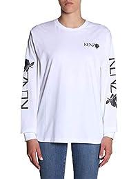 8e8860f4a60b Kenzo Femme F952TS77598701 Blanc Coton T-Shirt