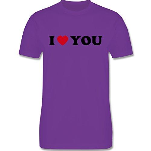 I love - I Love You - Herren Premium T-Shirt Lila