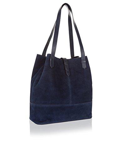 Monsoon Cabas rigide Emina - Femme Bleu Marine