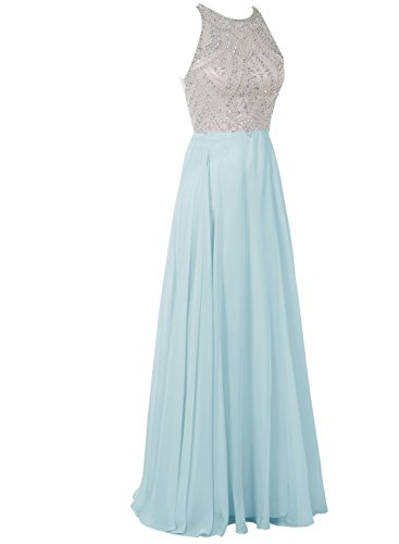 Bbonlinedress 2017 Damen Ärmellos Ballkleid Partykleid A-Linie Cocktail Abendkleid Royalblau 52W -