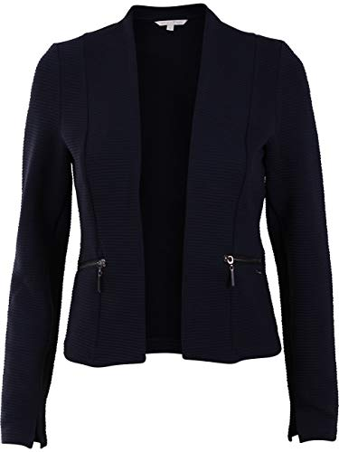 TOM TAILOR Denim Damen Blazer Collarless, Größe:XS, Farbe:Real Navy Blue (10360)