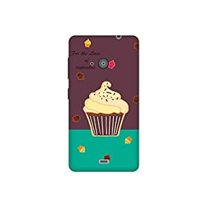 The Racoon Lean printed designer hard back mobile phone case cover for Microsoft Lumia 535. (Cupcakes)