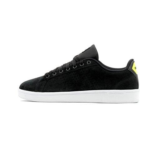 adidas Cloudfoam Advantage, Sneakers Basses Homme Noir (noir essentiel / noir essentiel / jaune solaire)