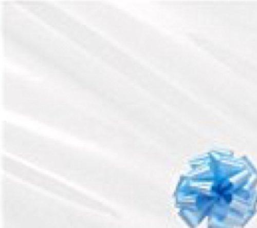 3M x 80cm celofán papel de envolver y azul para desatar el lazo rollo de cortar grandes y plegada para gastos de envío
