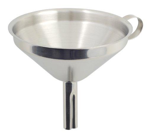 Metaltex 185308 - Embudo con filtro, inox, 13 cm
