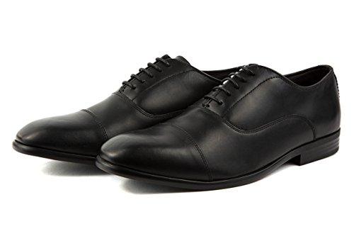 Base London Herren Elegante Schnürer Business Schuhe Gr. 42 Schwarz