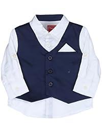 Chirpie Pie by Pantaloons Baby Boys' Plain Regular Fit Shirt
