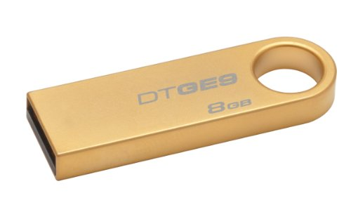 Kingston Datatraveler GE9 8GB Speicherstick USB 2.0 24 Karat vergoldetes Metallgehäuse