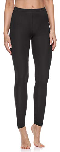 Merry Style Leggings Lunghi Pantaloni Donna MS10-198 (Nero, XL)