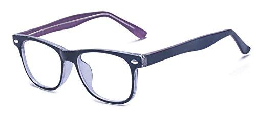 ALWAYSUV Klassische Mode, nicht beschriftbar, klare Gläser, für Kinder und Jugendliche Gr. M, violett