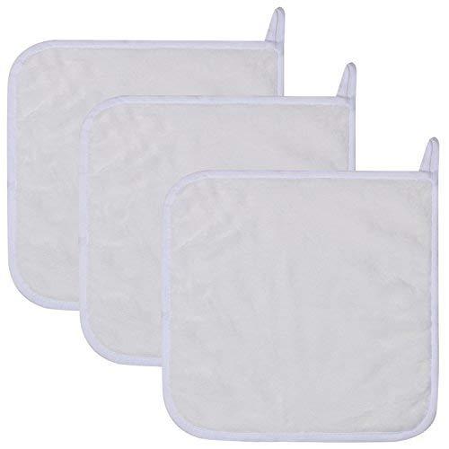 Lifaith panni per rimozione trucco viso ultra morbido panni in microfibra, confezione da 3, 30x 30cm