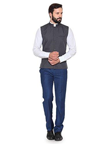 Rico Sordi Grey Nehru Jacket (1, XX-Large)