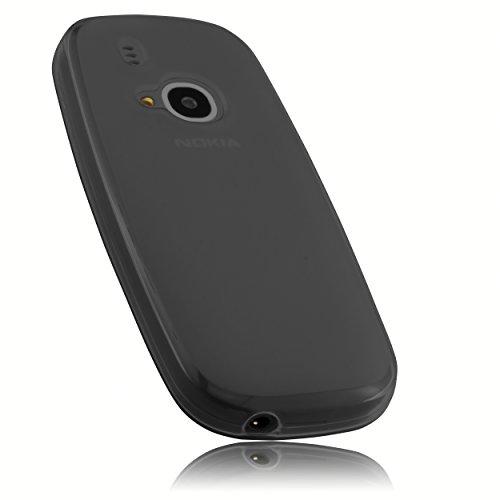 mumbi Schutzhülle für Nokia 3310 Hülle transparent schwarz