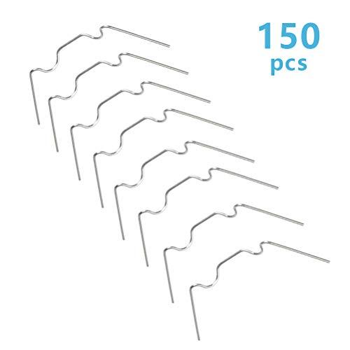 ATPWONZ 150 Stück Gewächshausklammern rostfreie Gewächshaus Klammern Edelstahl Set für Gewächshausplatten,Gewächshaus UV-beständig 95 x 30 x 1.6 mm
