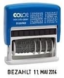Wortbandstempel COLOP S120WD m.Datum sf.