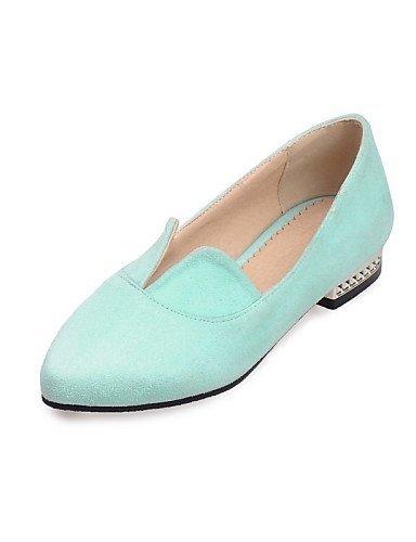 ShangYi gyht Scarpe Donna - Ballerine - Tempo libero / Formale / Casual - Ballerina / A punta - Piatto - Felpato - Rosa / Grigio / Verde chiaro Pink