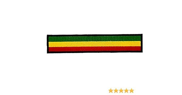 Backpack Embroidered Reggae Rasta Flag Biker Patch with Black Trim for Armband