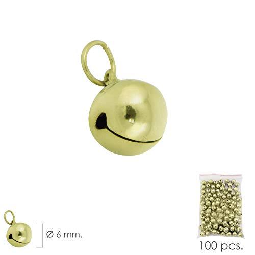 WOLFPACK 5241050 Cascabel Dorado 6 mm. (Bolsa 100 Unidades) c6b99446fbef