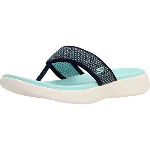 Skechers On The Go 600 Womens Toe Post Sandals 5 UK/38 EU Marina De Guerra/Aqua