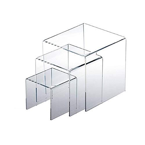 Fancylande Exhibición Transparente De Acrílico Vertical, Soporte De Exhibición De Acrílico Transparente De Exhibición De Joyería De 3 Piezas para Tiendas para Exhibir Libros, Joyería O Figuras