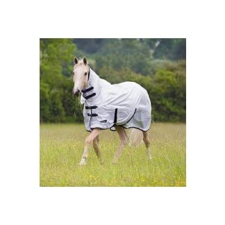 Shires Tempest Original Fly Combo Horse Rug - White 7
