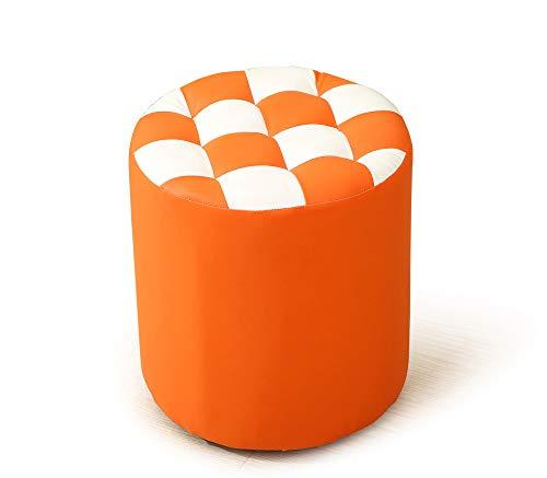 Sedie sgabello stile europeo, impermeabile casa di moda piccola panchina 33 * 33 * 35cm moderno comfort creativo scarpe sgabello in legno massiccio borsa morbida divano sgabello sgabello in pelle adul