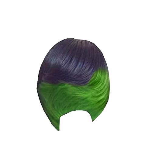 BfmyxgsDamen Coole Mode Perücke Kurzes Haar Haar Sets Micro-Curly Sexy Nachtclub Kostüm Cosplay Ultra Kurzes Haar (Tails Doll Kostüme)