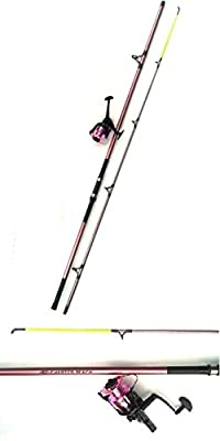 Ladies 12' Pink Beach Caster Fishing Rod + Pink Reel. from Fladen