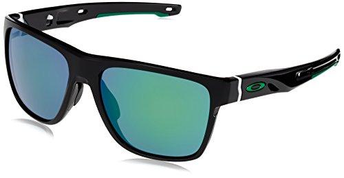 Oakley Herren Crossrange XL 936002 58 Sonnenbrille, Schwarz (Polished Black/Jadeiridium),