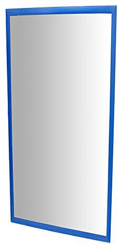 HenBea Kinder Spiegel mit Holzrahmen, Kunststoff, blau, 120x 65cm
