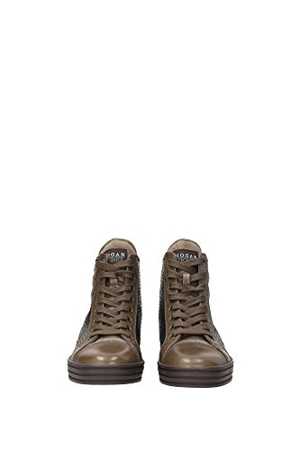 HXW1820E2314TS352E Hogan Sneakers Damen Leder Braun Braun
