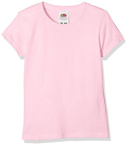 Fruit of the Loom Mädchen T-Shirt Sofspun T Girls, Rosa (Light Pink 420), Herstellergröße: 164 (14-15)
