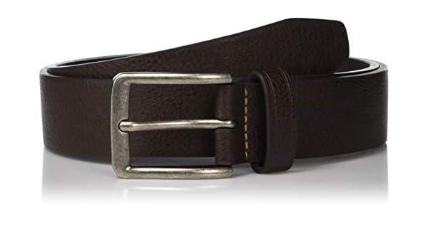 07dde186cbda Perry Ellis Men's Portfolio Nickel Buckle Casual Belt, Brown, 34 ...