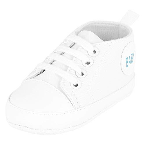 KREXUS Krabbelschuhe Baby Sneaker Weiß Gr. 0-6 Monate XB01401_0