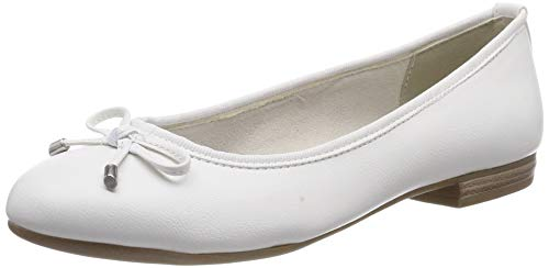 MARCO TOZZI Damen 2-2-22137-32 Geschlossene Ballerinas Weiß (White 100) 38 EU