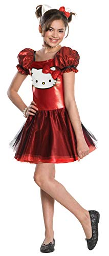 Costume hello kittytm rosso bambina 5 a 7 anni