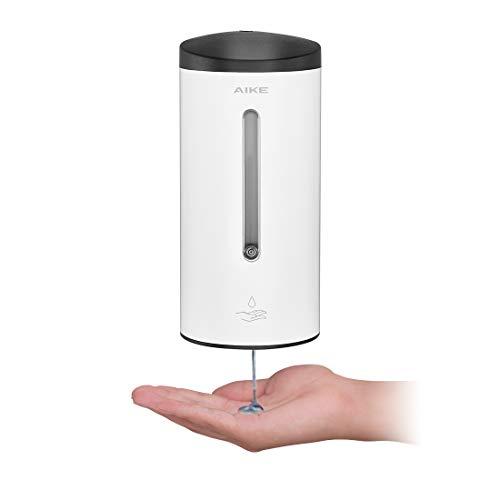AIKE AK1205 Automatischer Seifenspender Edelstahl Wandmontage mit Infrarot Sensor für Küche und Badezimmer, Große 700 ml Einstellbar, Weiß