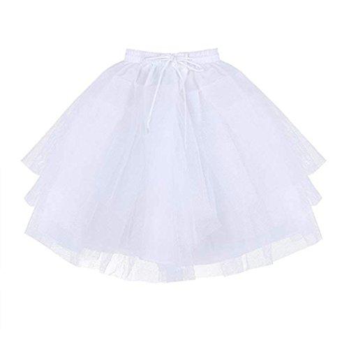 Petticoat Slip Krinoline Kostüm - MEITEMEI Kids White Mini 3 Schichten Hochzeit Blumenmädchen Petticoat/Unterrock/Krinoline Slips