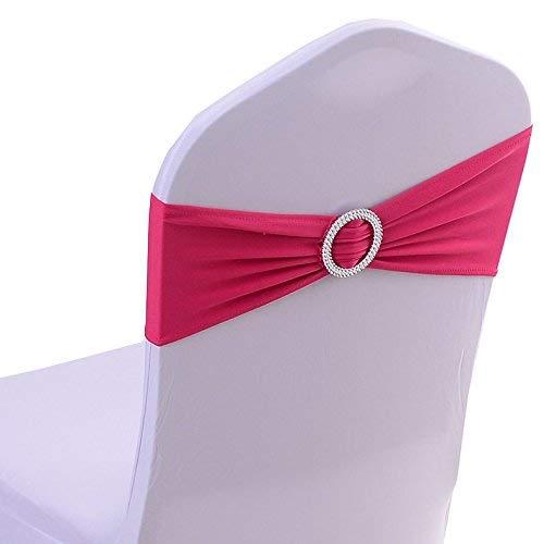 Crystallly Stretch Stuhl Bands Mit Schnalle Schieber Stuhl Schärpen Schleifen Hochzeit Einfacher Stil Party Stuhl Dekoration Aqua (Color : Gold-Metallic, Size : Size) -